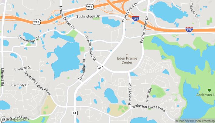 Map of 590 Prairie Center Dr in Eden Prairie