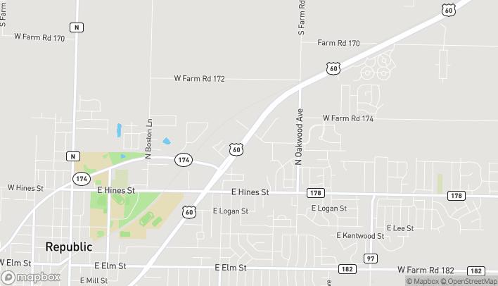 Mapa de 1266 US Hwy 60 E en Republic