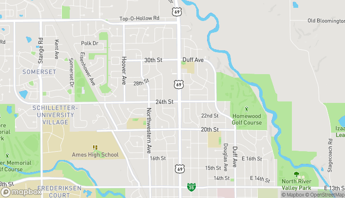 Map of 725 24th St in Ames