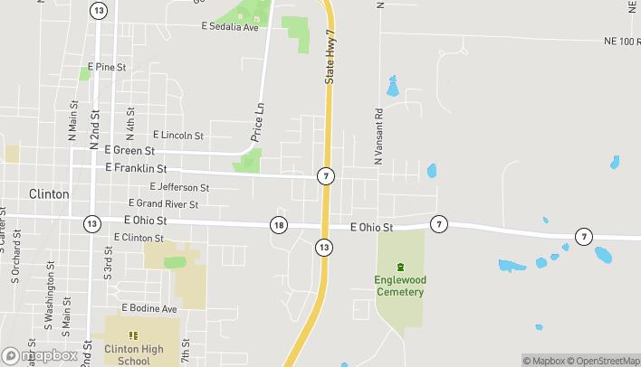 Mapa de 1406 E Franklin St en Clinton