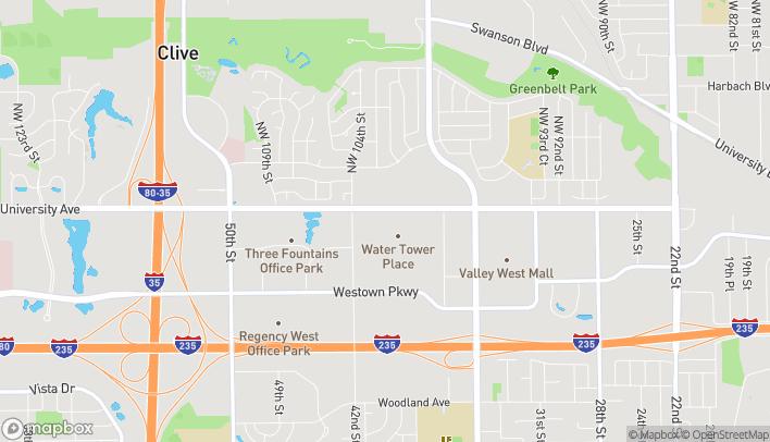 Mapa de 4100 University Ave en West Des Moines