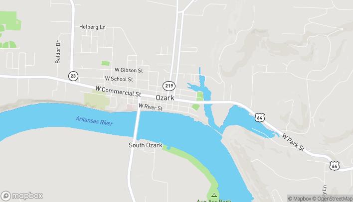 Mapa de 105 W Commercial St en Ozark