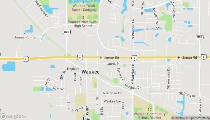 Mapa de 306 West Hickman Rd en Waukee