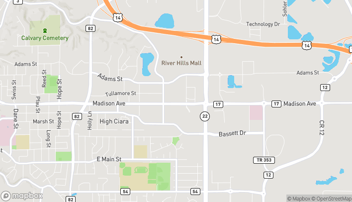 Map of 1854 Madison Ave in Mankato