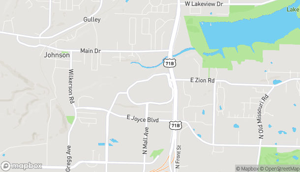 Map of 4201 N Shiloh Drive in Fayetteville