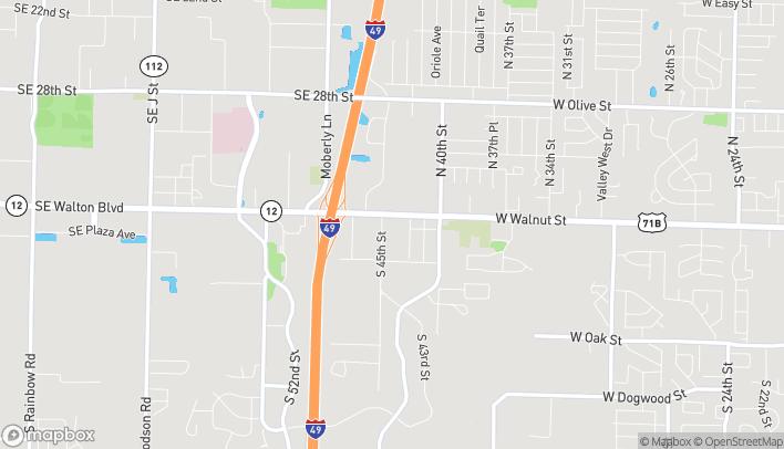 Map of 4404 W Walnut in Rogers