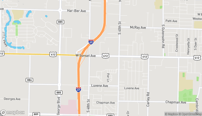 Map of 4489 W Sunset Ave in Springdale