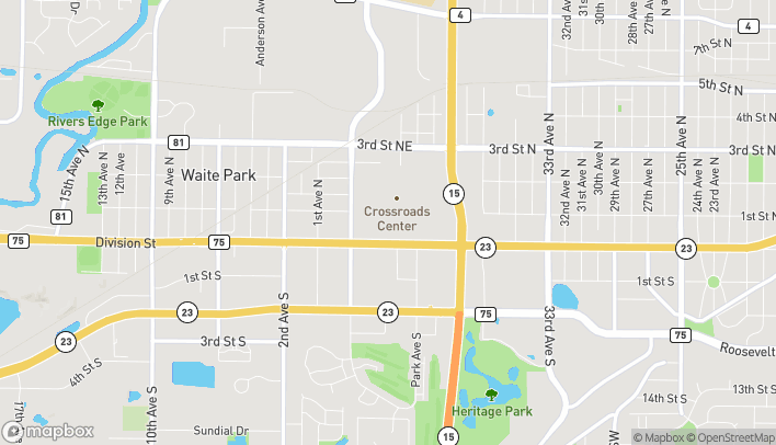 Map of 4101 W Division St in Saint Cloud