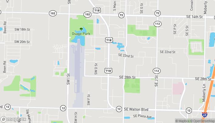 Mapa de 2510 S Walton Blvd en Bentonville