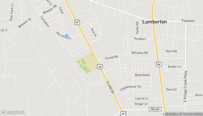 Mapa de 74 N. Lhs Drive en Lumberton