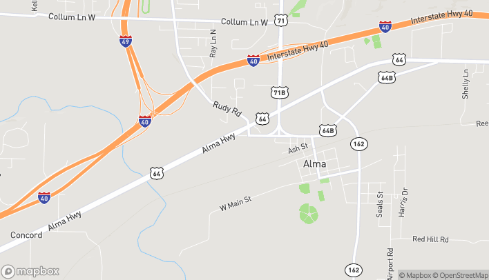Map of 415 W Cherry St in Alma
