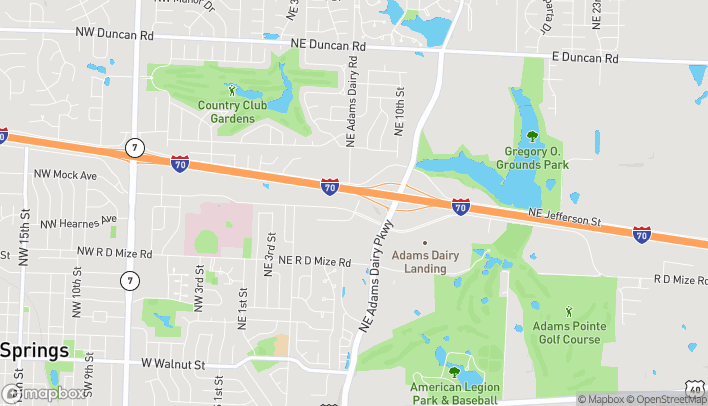 Mapa de 715 NE Coronado Dr en Blue Springs