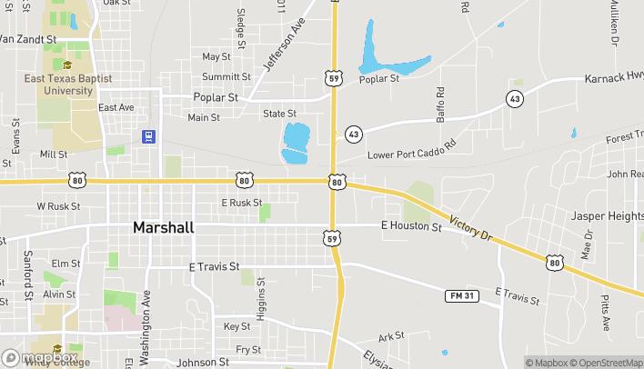 Mapa de 1712 E Grand Ave en Marshall