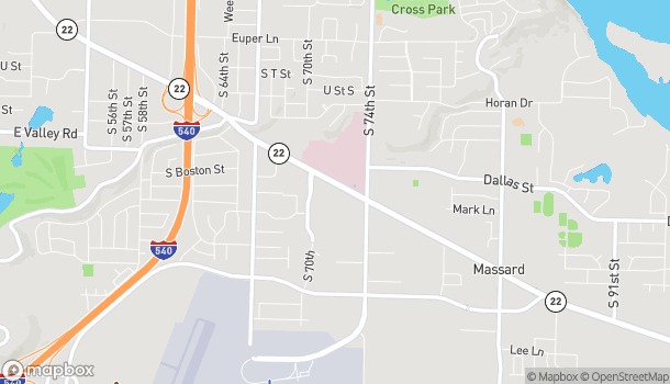 Mapa de 7110 Rogers Ave en Fort Smith