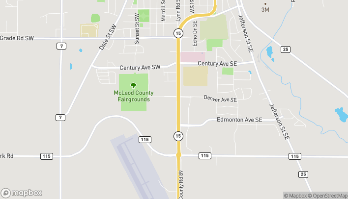 Map of 1310 Hwy 15 S in Hutchinson