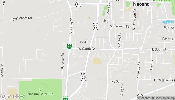 Map of 910 A S Neosho Blvd in Neosho