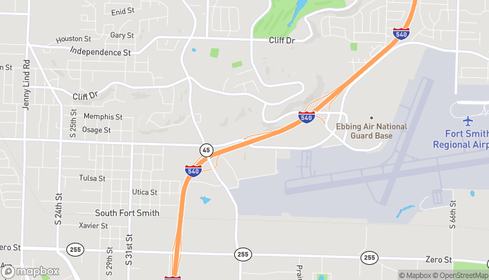 Map of 4625 Phoenix Ave in Fort Smith