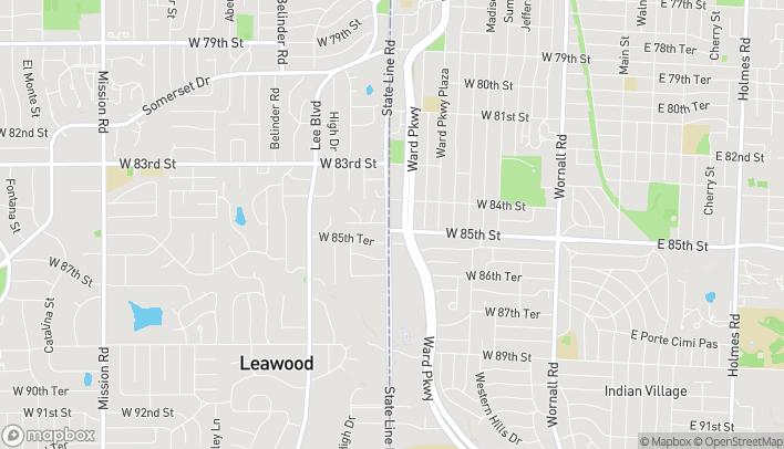 Mapa de 8427 State Line Rd en Kansas City