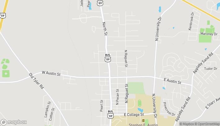 Mapa de 3402 North St en Nacogdoches