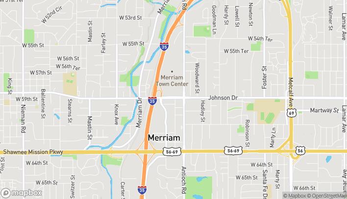 Mapa de 8801 Johnson Dr en Merriam