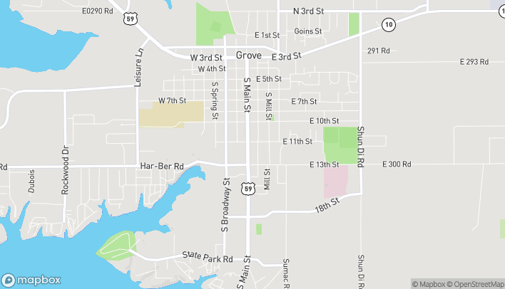 Map of 12 E 11th St in Grove