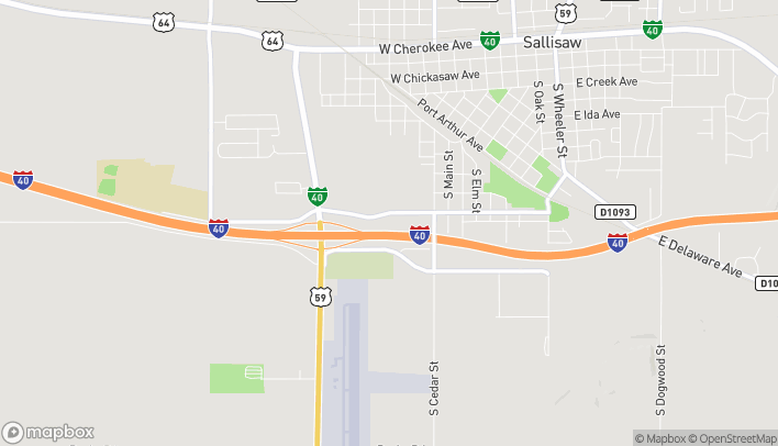 Map of 900 West Ruth Ave in Sallisaw