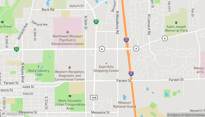 Mapa de 3702 Frederick Blvd en Saint Joseph
