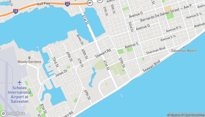 Mapa de 6105 Stewart Rd en Galveston