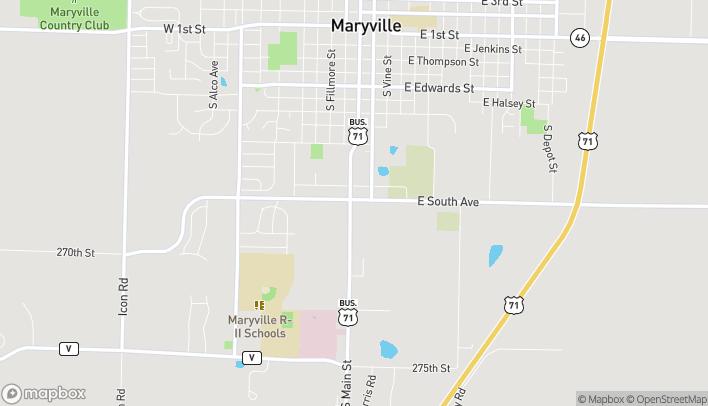 Mapa de 1105 S Main St en Maryville