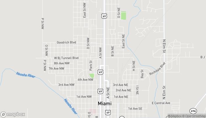 Mapa de 845 N Main St en Miami