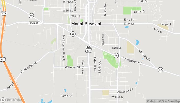Mapa de 819 S Jefferson Ave en Mount Pleasant