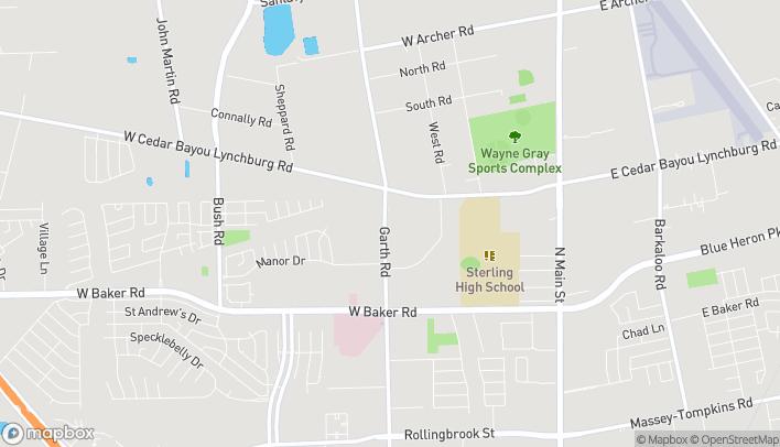 Map of 4868-B Garth Rd in Baytown