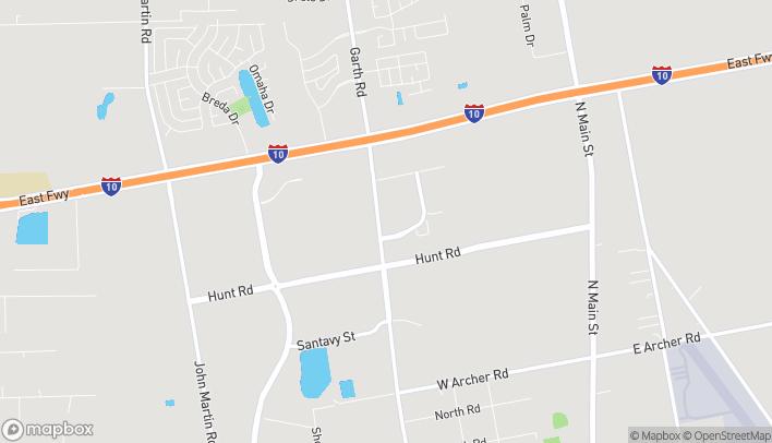 Mapa de 6646 Garth Road en Baytown