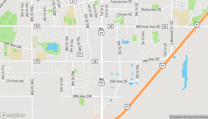Map of 1811 First St S in Willmar