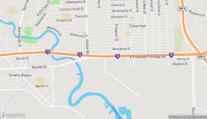 Map of 13630 East Freeway in Houston