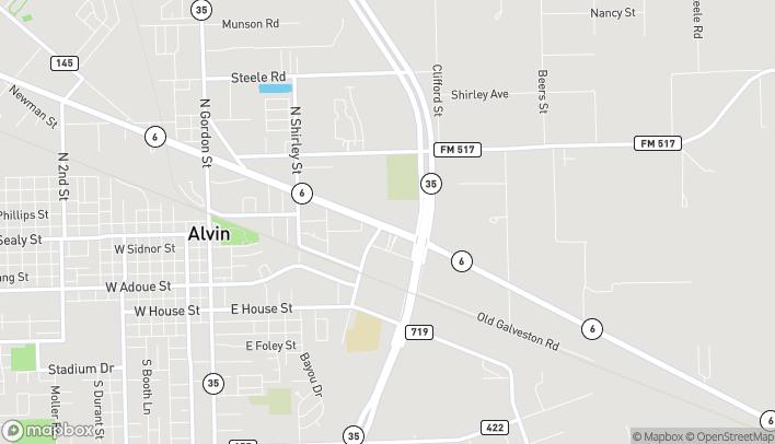 Mapa de 1487 E Hwy 6 en Alvin