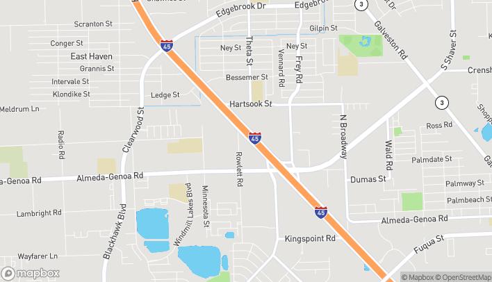 Map of 11410 Gulf Frwy in Houston