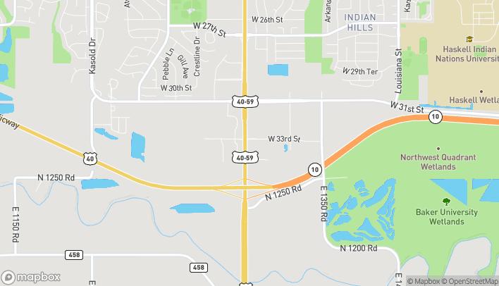 Map of 3310 Iowa Street in Lawrence