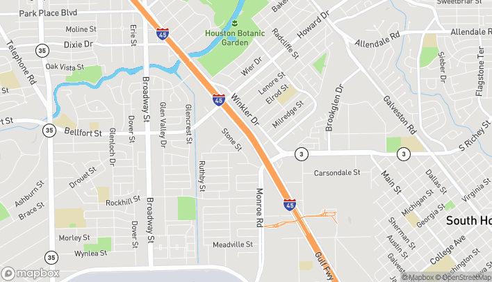 Map of 8452 Gulf Fwy in Houston
