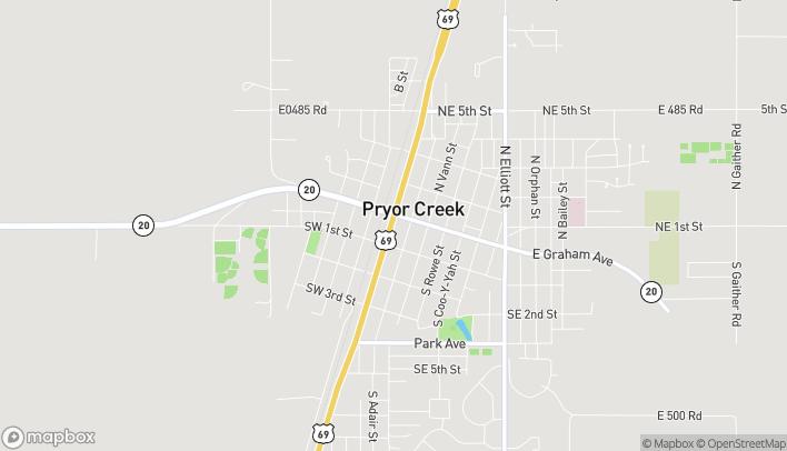 Mapa de 11 S Mill Ave en Pryor