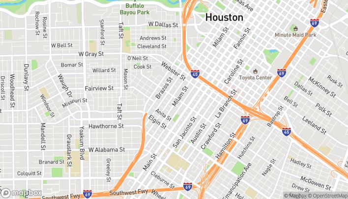 Map of 2625 Louisiana St in Houston