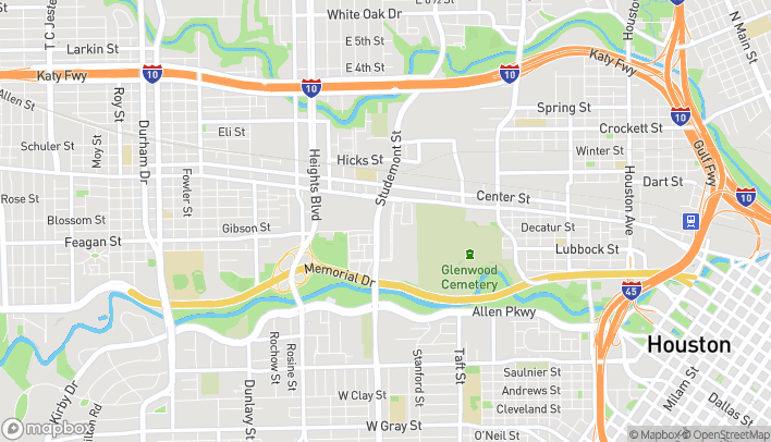Map of 920 Studemont in Houston