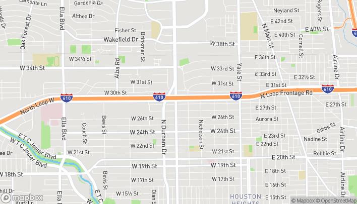 Map of 2802 N Shepherd Dr in Houston