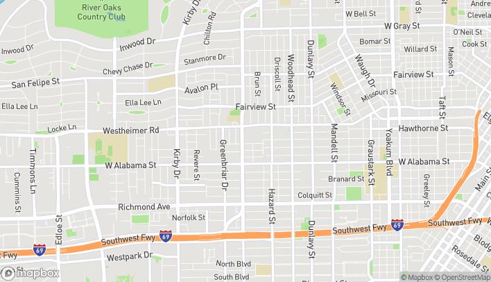 Map of 2621 S Shepherd Dr in Houston