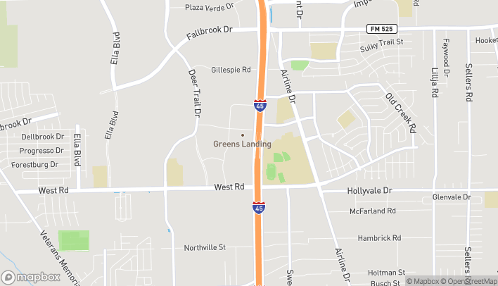 Map of 10701 North Freeway in Houston