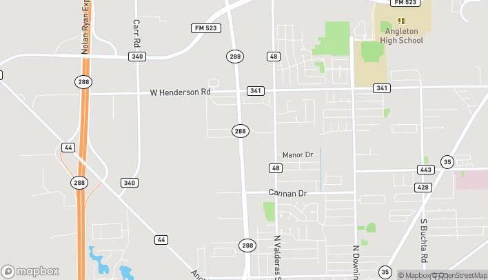 Mapa de 103 Harvin Drive en Angleton