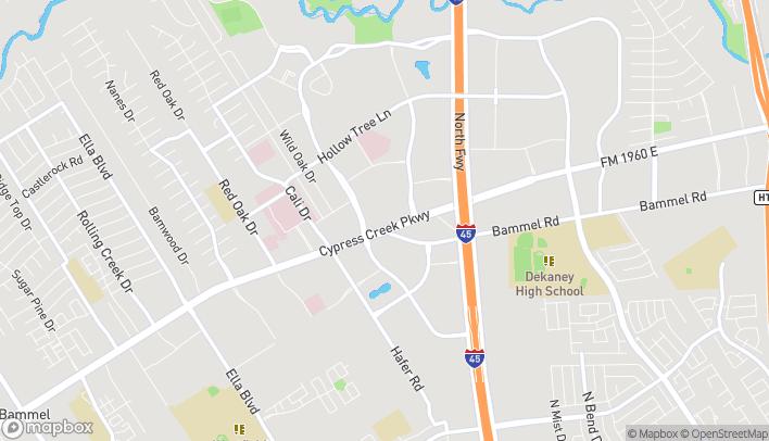 Map of 348 FM 1960 W in Houston
