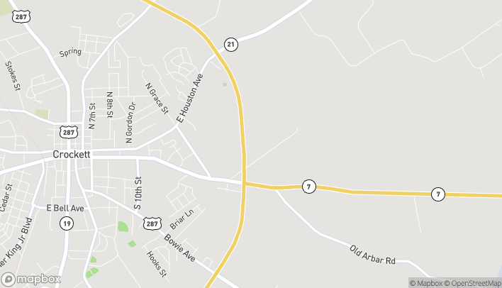 Mapa de 1243 E Loop 304 en Crockett