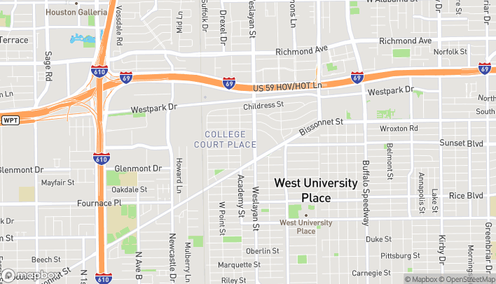 Map of 5514 Weslayan St in Houston