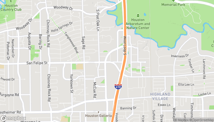 Map of 4920 San Felipe in Houston